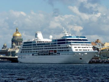 Cruise ship in St. Petersburg